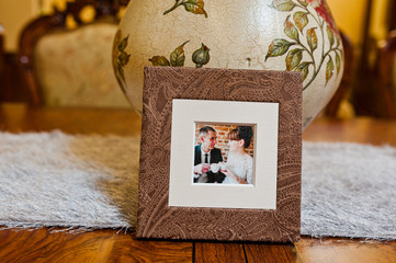 textile wedding photo book and cd box