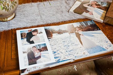 textile wedding photo book and album