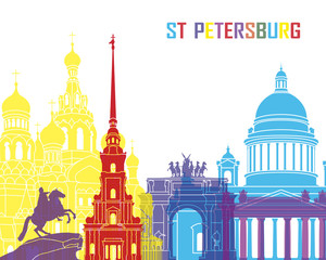 St Petersburg skyline pop