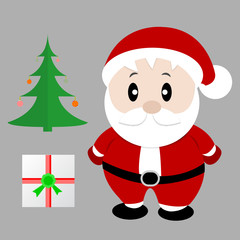 Santa claus . Vector illustration for retro christmas card.