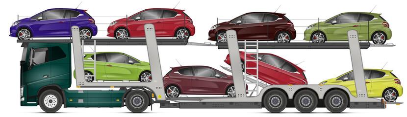 photos illustrations et vid os de camion transport de voiture. Black Bedroom Furniture Sets. Home Design Ideas