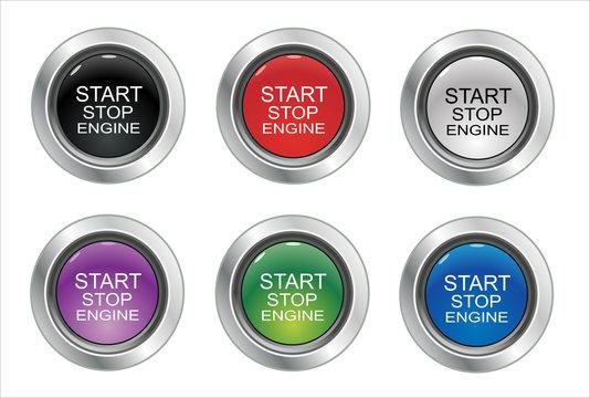 Start Stop Engine button set