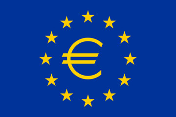 Flag of Europe with Euro