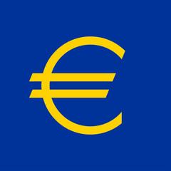 Flat euro sign