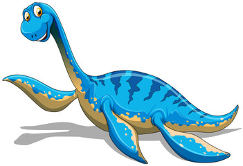 Blue dinosaur with long neck