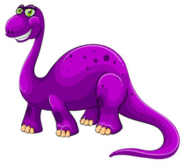 Purple dinosaur standing alone