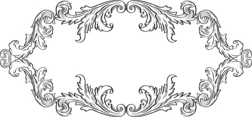Orient acanthus art good frame