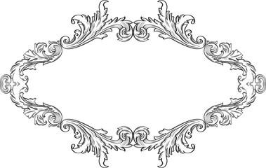 Orient acanthus fine frame
