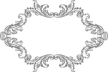 Orient acanthus frame