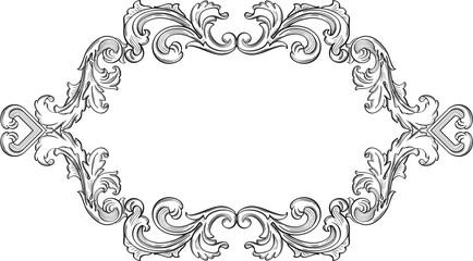 Orient acanthus vintage fine frame