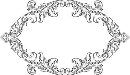 Orient acanthus vintage frame