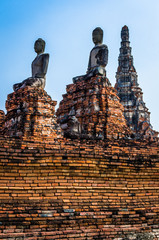 World Heritage Site in Ayutthaya, thailand