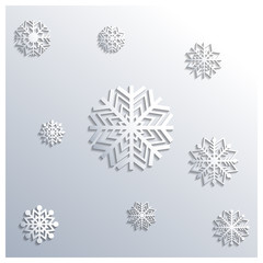 Background of snowflakes, vector illustration.