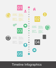 Timeline infographic business template
