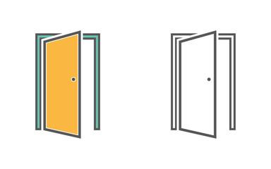 Door icon  sc 1 st  Adobe Stock & Door icon - Buy this stock vector and explore similar vectors at ...