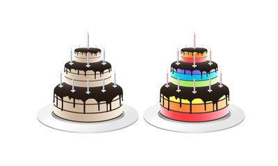 Vector illustration of cake