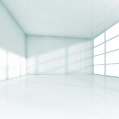 Abstract white interior empty 3d office room