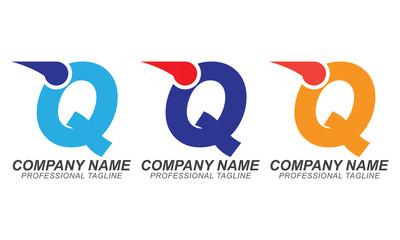 Q Speed Font - Logo Business Concept Design Elements