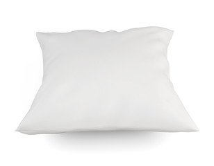 White cushion on a white.