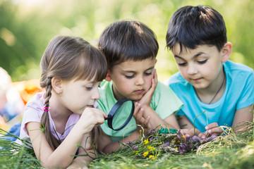 summer kids portrait