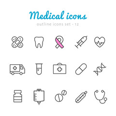 Medical outline icons