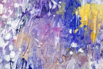 Веселая текстура краски, фрагмент картины