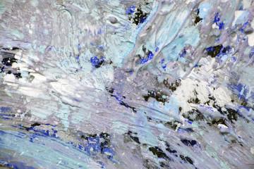 Брызги краски в холодном колорите