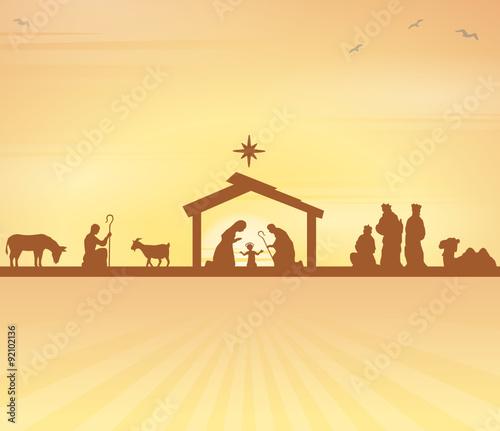 Weihnachten Krippe Bilder.Weihnachten Mit Krippe Und Heiligen 3 Königen Stockfotos Und
