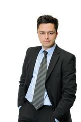 portrait of handsome businessman in suit