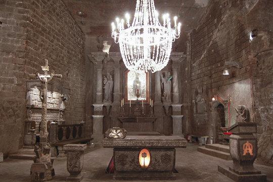 Carved Stone Church - Wieliczka Salt Mine