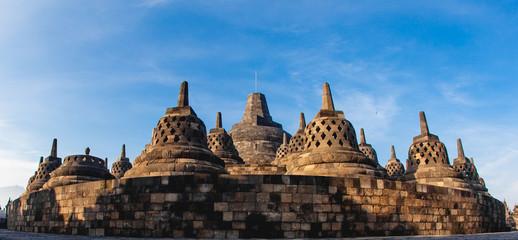 Panorama Borobudur Temple, Yogyakarta, Java