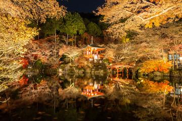 Daigoji Temple in Japa, night scene