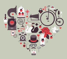Valentine's day themed design element
