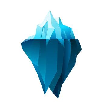 iceberg on white