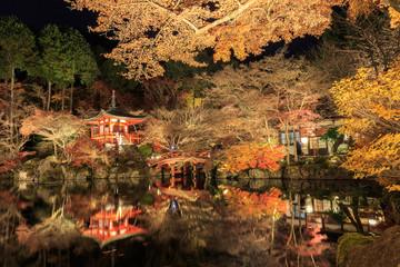 Daigo-ji of night scene is in Tample japan.