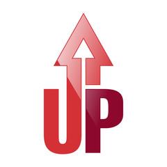 UP Arrow Logo Icon Symbol