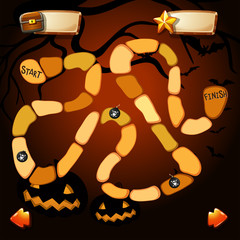 Game template with halloween theme
