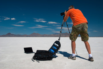 The Photographer, Bonneville salt flats speedway