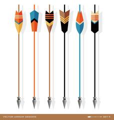 set of bold archery arrow design elements