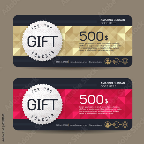 Gift voucher template with premium patterncute gift voucher gift voucher template with premium patterncute gift voucher certificate coupon design template collection yelopaper Choice Image