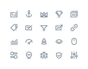 Search optimization icons. Line series