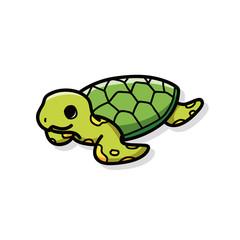 sea animal turtle doodle
