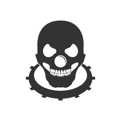 Clowny Bald Skull