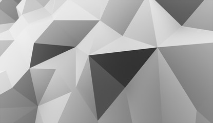 Triangle background concept rendered