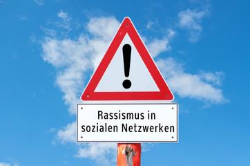 Achtung Rassismus in sozialen Netzwerken