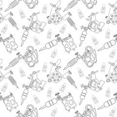 Tattoo machines pattern. Contour