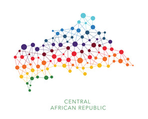 dotted texture Central African Republic vector background