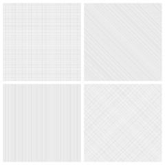 Set of monochrome hatch seamless patterns