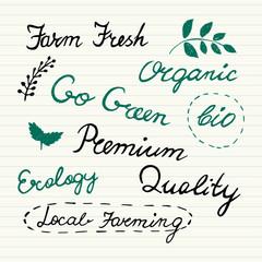 Hand Drawn Organic Icons Set