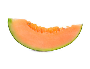 cantaloupe melon isolated on white background